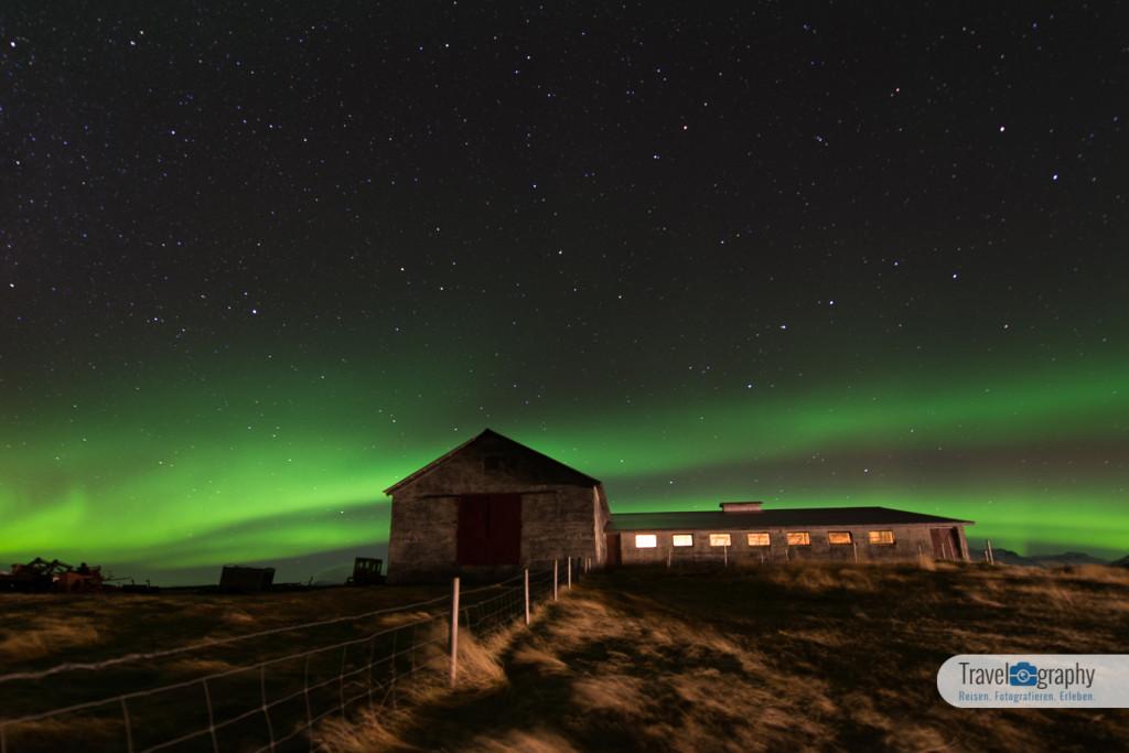 Nordlicht am Bauernhof