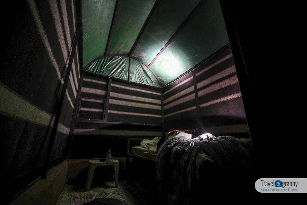 Nachts im Zelt