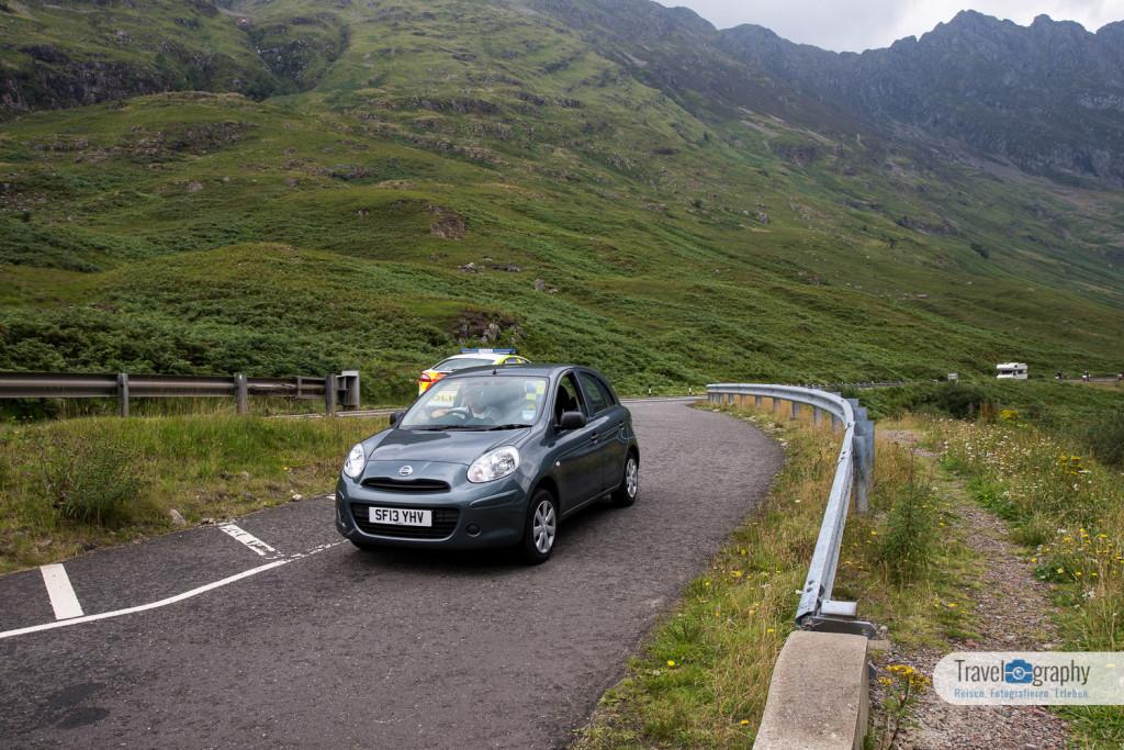 Kurze Zwangspause - Polizeikontrolle auf dem Weg zur Isle of Skye