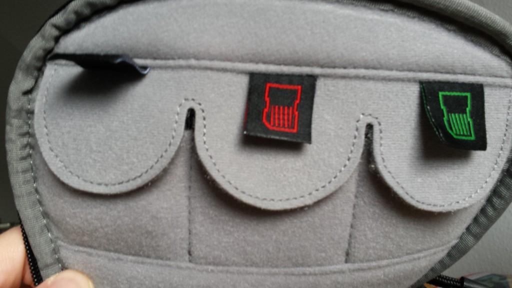 Kennzeichnung der Taschen beim Hama Daytour