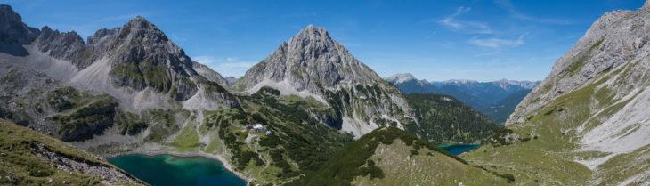 bergpanorama seebensee und drachensee
