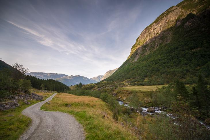Der Weg durch das Bondhusdalen