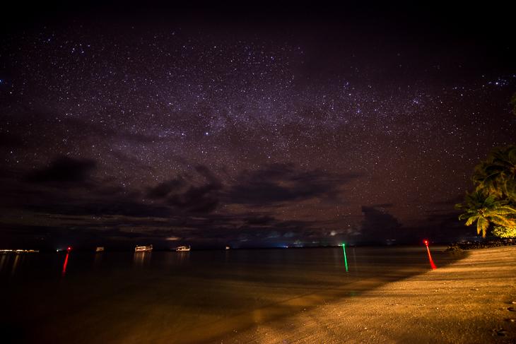 Sternenhimmel über den Malediven