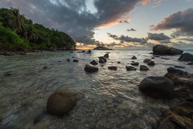 Steinformationen auf den Seychellen