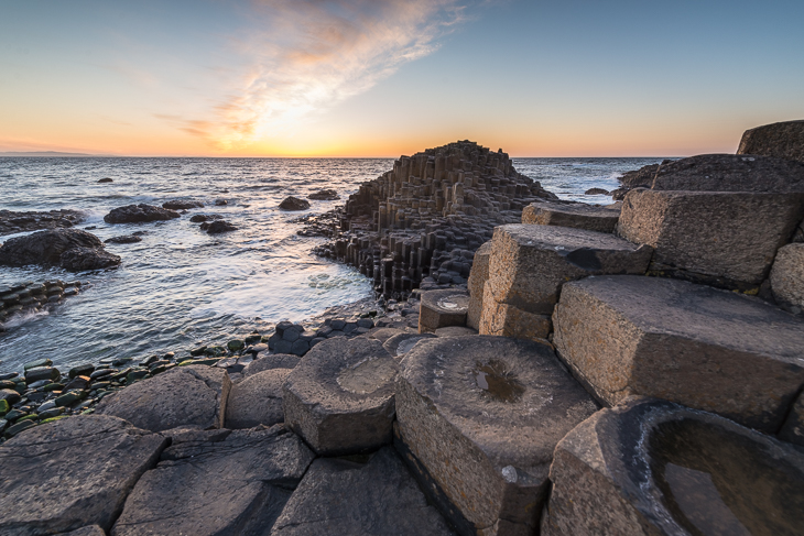 Felsformationen des Giant's Causeway