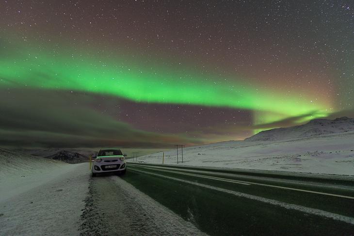 Glücksmoment: Nordlichtsichtung