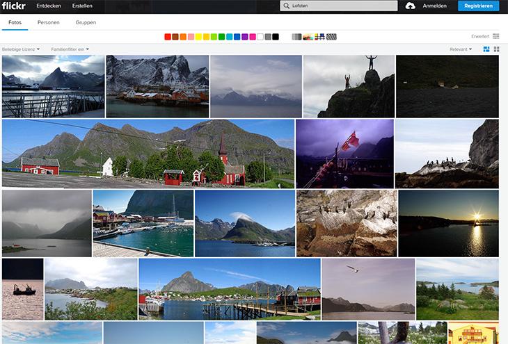 Flickr Suchmaske
