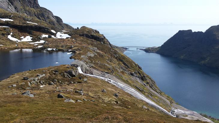 Blick auf den See oberhalb des Djupfjord