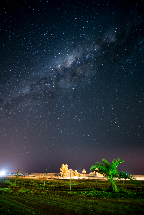 Nachthimmel über dem Kalahari Farmhouse