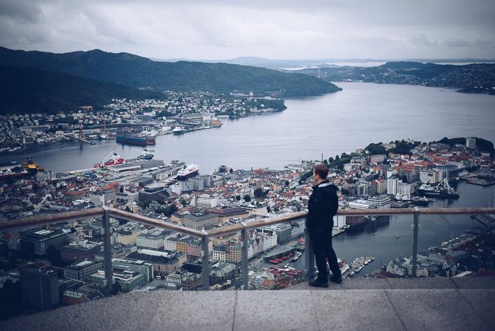 Blick vom Mount Fløien