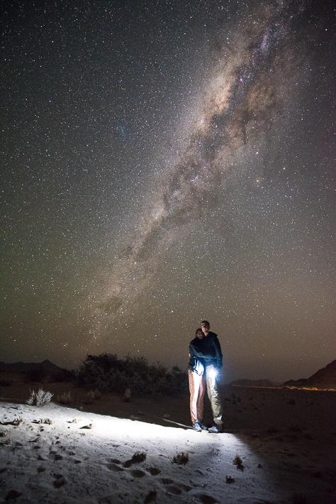 Über uns die Milchstraße