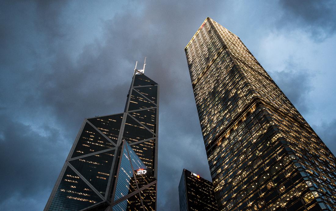 Alleine unter Riesen - Hongkongs Skyline