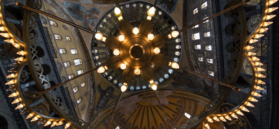 Blick in die Hagia Sophia - eine ungewöhnliche Perspektive