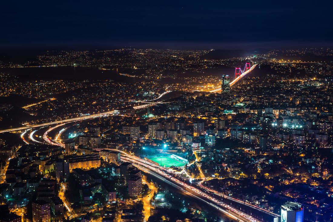 Der atemberaubende Blick vom Sapphire Gebäude in Istanbuls Bankenviertel