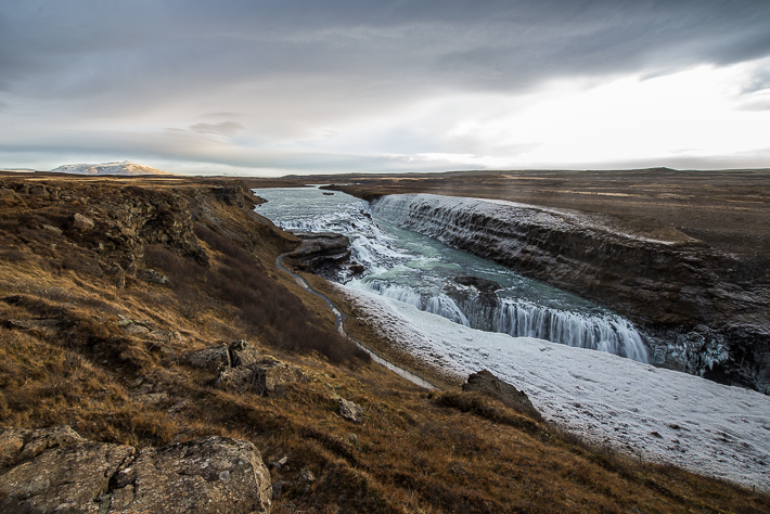 Island Sehenswürdigkeit am Golden Circle: Der Gullfoss