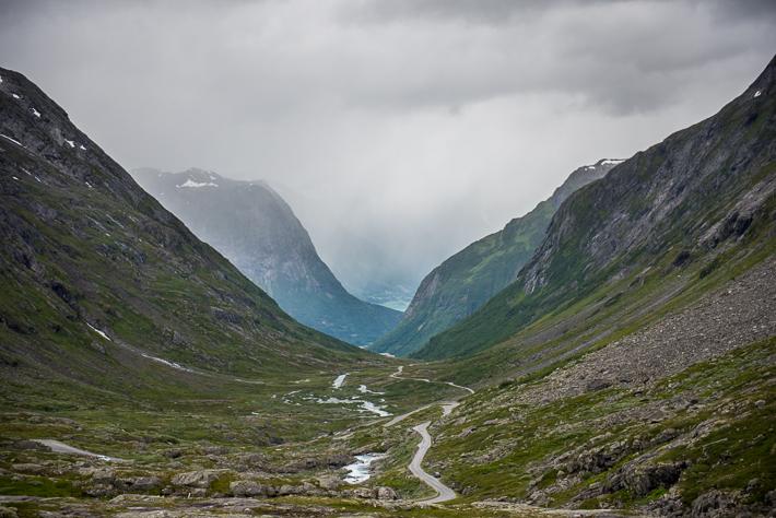 Gamle Strynefjellsvegen - Blick zurück Richtung Hjelle