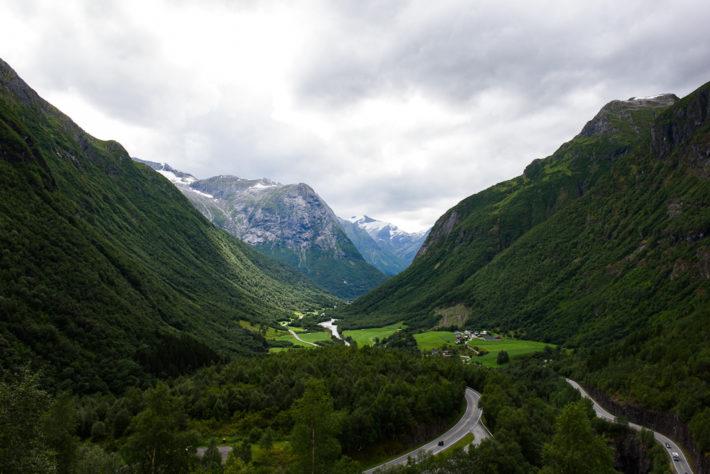Gamle Strynefjellsvegen (3) - Der Beginn der Strecke