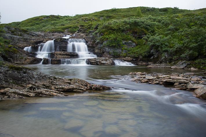 Wasserfall bei Turtagrø