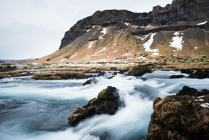 Iceland waterfall on the ring road - ND64 filter - EXIFS: f11, 0.6 sec., ISO100, 24mm